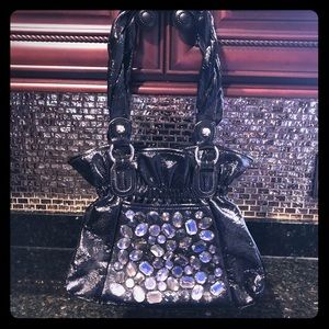 EUC Black Gemmed Purse